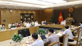 Quang cảnh cuộc họp Ban Chỉ đạo Quốc gia phòng  chống dịch Covid-19, chiều 8-6. Ảnh: VGP