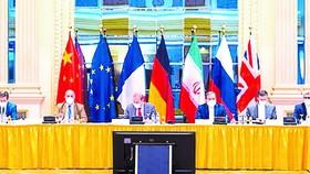 Quang cảnh cuộc họp của Ủy ban chung giám sát JCPOA tại Vienna, Áo ngày 20-6