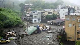 Trận lở đất nghiêm trọng xảy ra ngày 3-7 tại Atami, tỉnh Shizuoka, phía Tây Nam thủ đô Tokyo của Nhật Bản