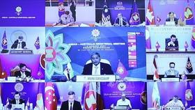Bộ trưởng Ngoại giao các nước tham dự Hội nghị Bộ trưởng Ngoại giao ASEAN - Australia theo hình thức trực tuyến. Ảnh: TTXVN