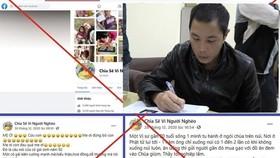 Một đối tượng cùng 2 đồng phạm tạo Fanpage Chia sẻ vì người nghèo lừa các nhà hảo tâm ủng hộ tiền, sau đó chiếm đoạt. Ảnh: Laodong