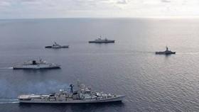 Tập trận hải quân chung Singapore-Ấn Độ (SIMBEX) lần thứ 28 kết thúc vào ngày 4/9 tại khu vực biển gần Singapore. Ảnh: PTI