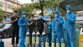Hỗ trợ bình oxy miễn phí cho nhiều quận huyện và TP Thủ Đức