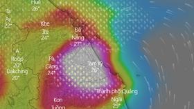 Áp thấp nhiệt đới vẫn di chuyển chậm theo hướng Tây Tây Bắc, suy yếu thành một vùng áp thấp