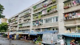 Nghị định 69 sẽ tháo gỡ những vướng mắc để thúc đẩy cải tạo, xây dựng lại chung cư cũ ở TPHCM (ảnh một khu chung cư tại TPHCM trước thời điểm dịch Covid-19 bùng phát)