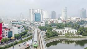 Dự án Đường sắt đô thị Hà Nội tuyến Cát Linh - Hà Đông. Ảnh: QUANG PHÚC