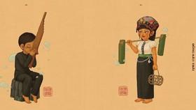 """Hình ảnh trang phục đồng bào các dân tộc do nhóm """"Đồng bào Việt phục"""" thực hiện"""