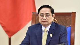 Thủ tướng Phạm Minh Chính đã điện đàm với Thủ tướng Liên hiệp Vương quốc Anh và Bắc Ireland Boris Johnson. Ảnh: VGP