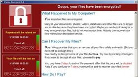 Một máy bị nhiễm mã độc WannaCry. Ảnh: REUTERS