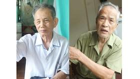 Ông Nguyễn Công Uẩn (trái) và ông Nguyễn Tiến Lãng. Ảnh: PLO