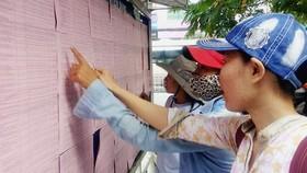 Nhiều bạn trẻ tìm thông tin việc làm tại Trung tâm Hỗ trợ học sinh, sinh viên TPHCM