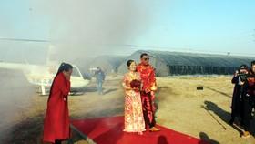 Rước dâu bằng trực thăng