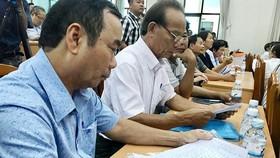 Đoàn đại biểu Quốc hội TPHCM tiếp xúc cử tri quận 2 vào chiều 20-6