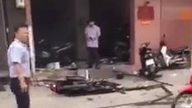 Điều tra vụ nổ trước trụ sở Công an phường 12 (quận Tân Bình)