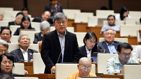 Đại biểu Trương Trọng Nghĩa (TPHCM) phát biểu tại phiên họp. Ảnh: VIẾT CHUNG