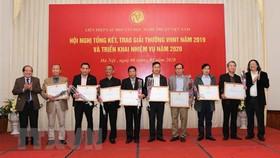 Trao giải thưởng Văn học Nghệ thuật năm 2019. Ảnh: Thanh Tùng/TTXVN