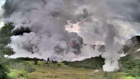 Núi lửa Taal hoạt động trở lại. Ảnh: Phivolcs