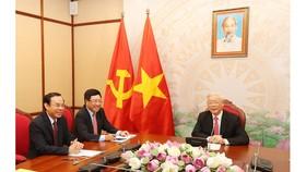 Tổng Bí thư, Chủ tịch nước Nguyễn Phú Trọng điện đàm với Tổng thống Liên bang Nga Vladimir Putin