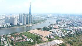 Một góc phường Bình An, quận 2 (bên kia sông Sài Gòn là quận Bình Thạnh). Ảnh: CAO THĂNG