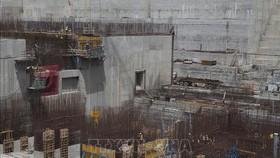 Công nhân Ethiopia xây dựng đập thủy điện Đại Phục Hưng ở gần biên giới Ethiopia - Sudan ngày 31-3-2015. Ảnh tư liệu: TTXVN