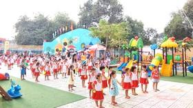 Trường Mầm non Long Thạnh Mỹ (quận 9) đạt chuẩn quốc gia với 17 phòng học và 302 học sinh đang theo học