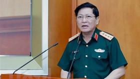 Đại tướng Ngô Xuân Lịch phát biểu khai mạc hội nghị. Ảnh: Dương Giang/TTXVN