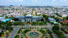 TP Thuận An có tốc độ phát triển kinh tế vượt bậc và tốc độ đô thị hóa nhanh Ảnh: báo Bình Dương