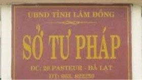 Chuyển công tác nguyên Giám đốc Sở Tư pháp tỉnh Lâm Đồng