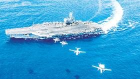 Tàu sân bay Mỹ USS Ronald Reagan hoạt động ở Biển Đông