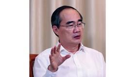 Bí thư Thành ủy TPHCM Nguyễn Thiện Nhân. Ảnh: VIẾT CHUNG