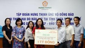 """Tập đoàn Hưng Thịnh ủng hộ chương trình """"Cùng chia sẻ người dân vùng lũ miền Trung"""" của báo SGGP 1 tỷ đồng"""