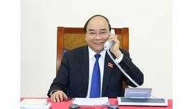 Thủ tướng Nguyễn Xuân Phúc điện đàm với Thủ tướng Thái Lan. Nguồn: ĐCSVN