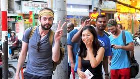 Người nước ngoài trên đường Đề Thám, phường Phạm Ngũ Lão, quận 1, TPHCM. Ảnh: CAO THĂNG