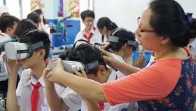 Một buổi học STEM tại Trường THCS Lê Quý Đôn, quận 3, TPHCM. Ảnh: HOÀNG HÙNG