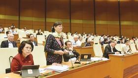Đại biểu Nguyễn Thị Quyết Tâm (TPHCM) phát biểu. Ảnh: QUANG PHÚC
