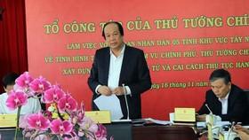 Bộ trưởng, Chủ nhiệm Văn phòng Chính phủ Mai Tiến Dũng phát biểu. Ảnh: TTXVN