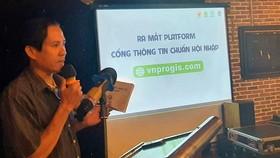 """Đại diện Ban tổ chức giới thiệu về Cổng thông tin """"Chuẩn hội nhập"""" kết nối với khách hàng thế giới. Ảnh: Bộ Công thương"""