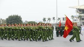 Lực lượng Cảnh sát tại lễ xuất quân. Nguồn: TTXVN