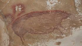 Bức tranh vẽ một con heo rừng, có niên đại từ cách đây tối thiểu 45.500 năm