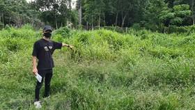 Khu đất của một người dân đã mua tại dự án An Điền. Ảnh: TTXVN