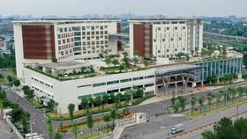 Bệnh viện Ung bướu TPHCM cơ sở 2 nhìn từ trên cao. Ảnh: HOÀNG HÙNG