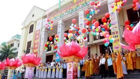 Đại lễ phật đản Vesak Liên hợp quốc tổ chức tại Thái Bình năm 2019. Ảnh: TTXVN