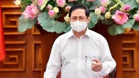 Thủ tướng Chính phủ Phạm Minh Chính phát biểu kết luận buổi làm việc với Bộ Lao động - Thương binh và Xã hội. Ảnh: VGP