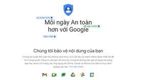 An toàn hơn cùng Google. Ảnh chụp màn hình