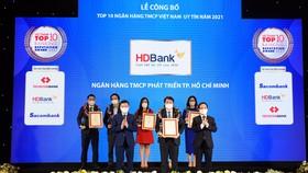 Kinh doanh hiệu quả, đồng hành cùng nền kinh tế vượt Covid-19, HDBank khẳng định vị thế top 5 ngân hàng uy tín nhất Việt Nam