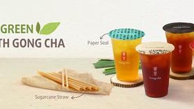 Gong Cha Việt Nam chuyển sang dùng ống hút từ bã mía