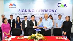 Lễ ký kết hợp tác xuất khẩu hàng nông sản Việt từ MMVN sang CMM Singapore