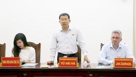 Ông Vũ Hải Hà, Phó Chủ nhiệm Ủy ban Đối ngoại của Quốc hội, phát biểu