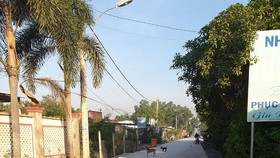 Con đường mới ở xã Trung Lập Thượng