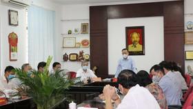 Trưởng Ban Dân vận Thành ủy TPHCM Nguyễn Hữu Hiệp phát biểu tại buổi khảo sát. Ảnh: hcmcpv.org.vn
